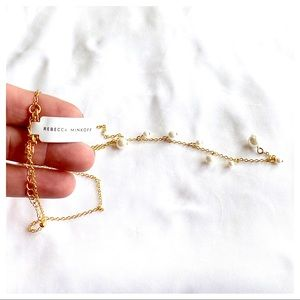 Floating Pearls Y Necklace by Rebecca Minkoff